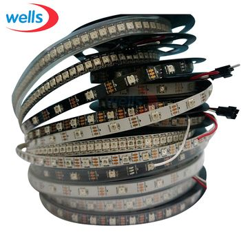 1m/4m/5m Smart pixel WS2812B Led Light 30/60/144 Leds/m WS2812 IC WS2812 Led Strip Black/White PCB IP30/IP65/IP67 5V Led Strip