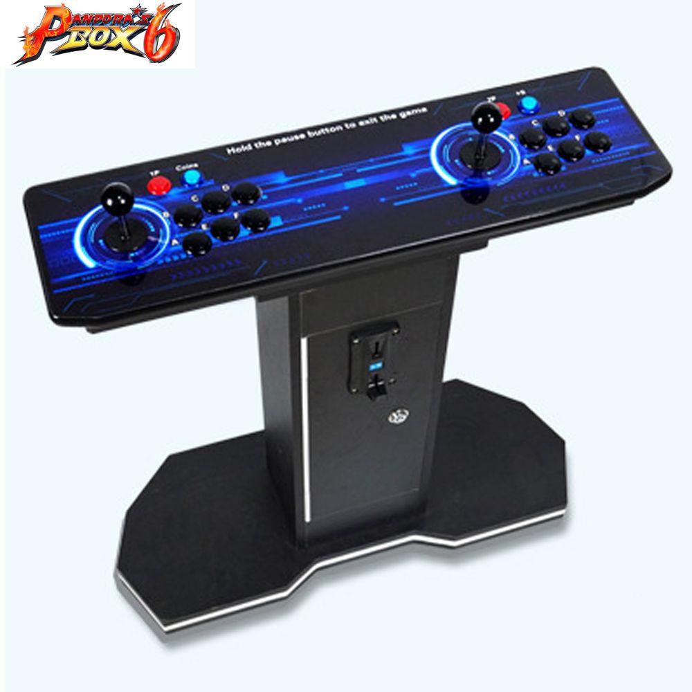 2019 neue Joystick Konsolen mit multi spiel PCB board 1300 in 1, pandora box 6 arcade joystick spielkonsole Doppel controller