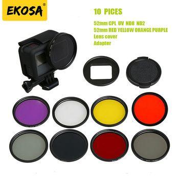 Ekosa Dome Filter For Gopro Hero 5 6 Black Lens Kit Mount Adapter Part CPL UV ND Polarizer Camera For Go pro Hero 5 6 Accessorie