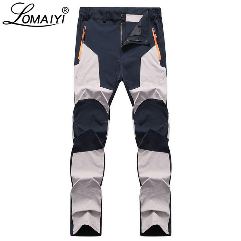 LOMAIYI Stretch Homme Pantalon Casual Hommes Printemps/Automne Étanche Pantalon de pantalons de Survêtement Hommes Mâle Slim Fit Travail Pantalon Pour hommes AM042