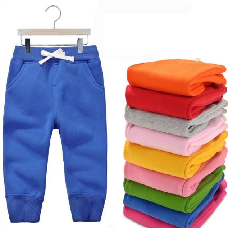 Hiver Chaud pantalon en velours Pour 1-5 Voix Contre les bébés Garçons Filles décontracté pantalons de sport Jogging Enfant Garcon Enfants pantalon pour Enfant KF107
