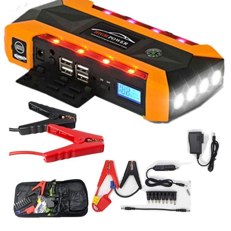 20000mAh Jump Starter For Car Starting Device LCD Display Vehicles Jumper Booster 4USB Power Bank Digitals Compass SOS Light