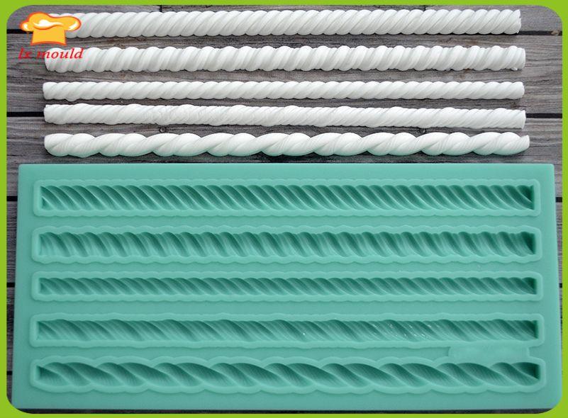 LXYY Formen qualität silikonform seil dekorative kunsthandwerk fondant-kuchenform kuchen dekoration form rand