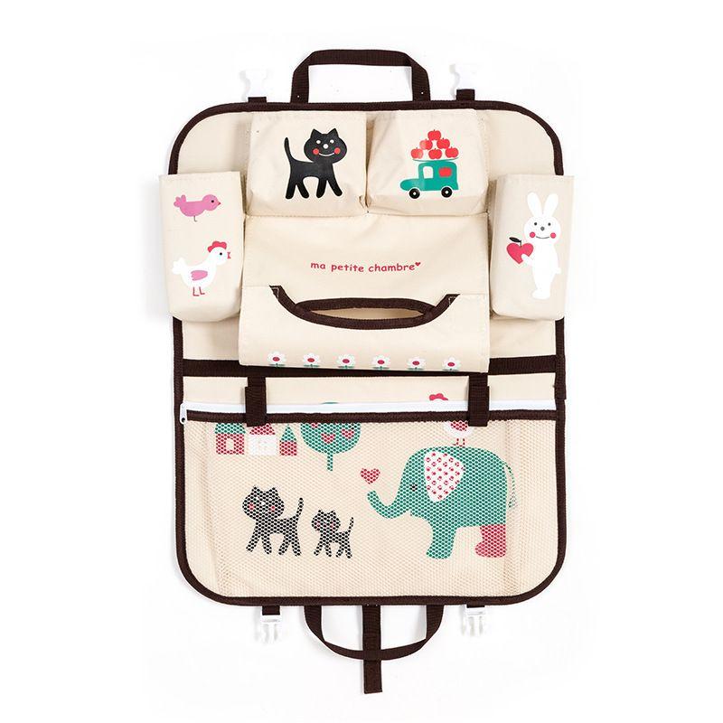 Car Cartoon Back Seat Storage Bag <font><b>Organizer</b></font> Food Phone Stowing Tidying Accessories Supplies Gear Items Stuff Products