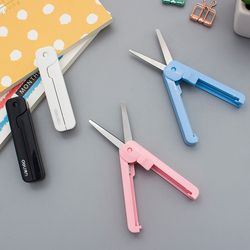 Réglable portable papeterie ciseaux petite taille bureau des étudiants utilisation de coupe outils de couleur creative ciseaux