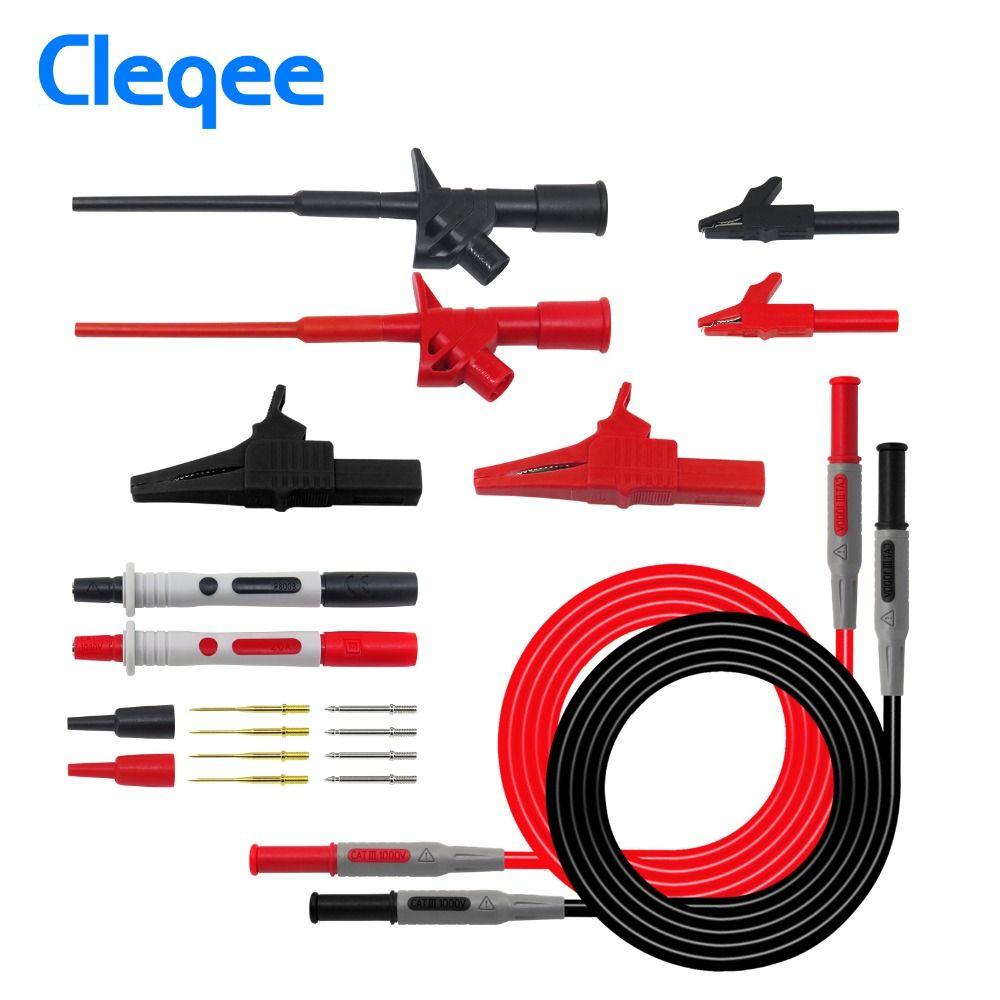 Cleqee P1600B 10-in-1 Electronic Specialties Test Lead kit <font><b>Automotive</b></font> Test Probe Kit Multimeter probe leads kit Banana plug