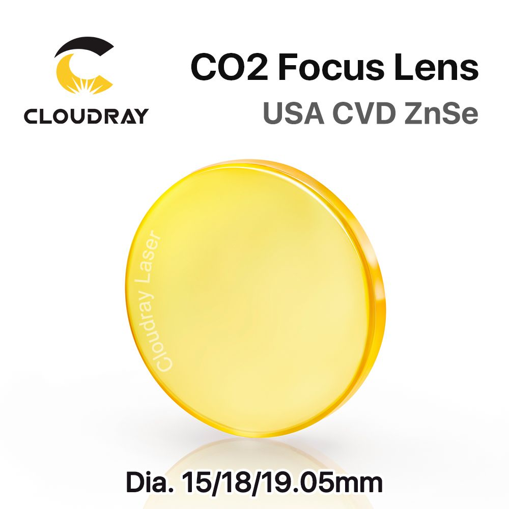Cloudray USA CVD ZnSe Focus Lens Dia. 15 18 19.05mm for CO2 Laser Engraving Cutting Machine