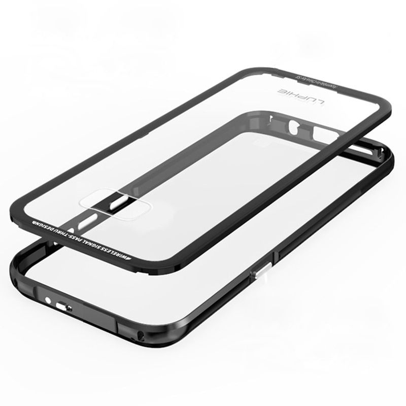 De luxe Pour fundas Galaxy S8 Cas Samsung S8 Couverture Transparent Armure pour le Cas samsung galaxy S8 plus couvercle du boîtier s8plus bord coque