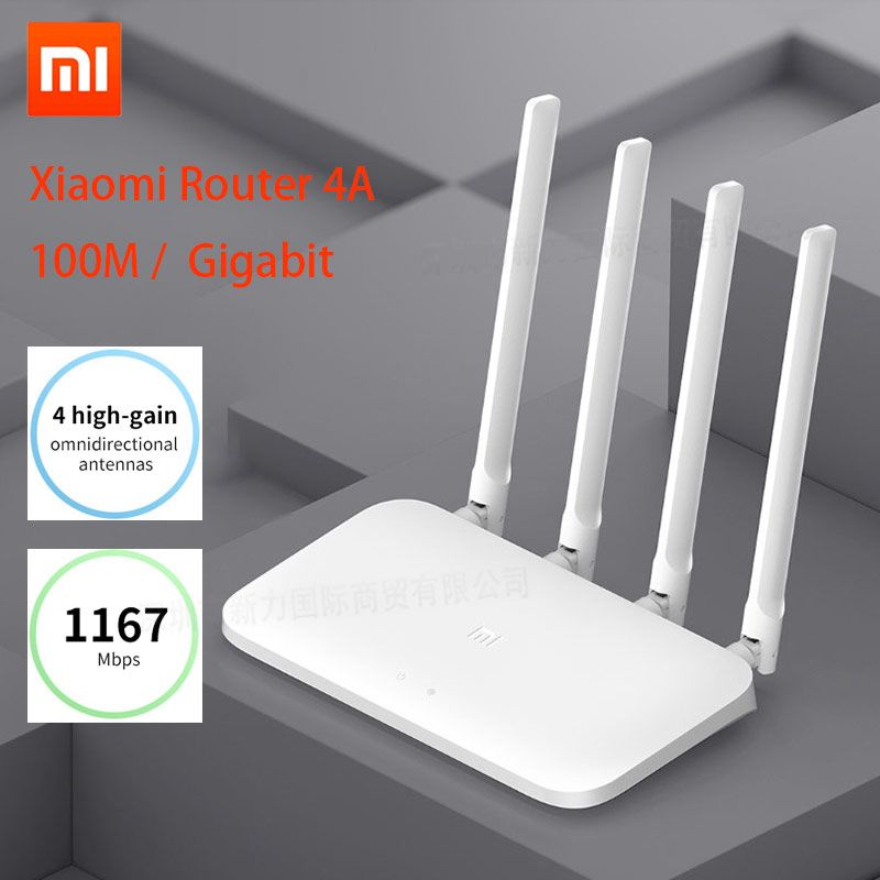 Xiaomi Mi Router 4A Gigabit Edition 100M 2.4GHz 5GHz WiFi 16MB ROM 64MB DDR3 High Gain 4 Antennas Remote APP Control