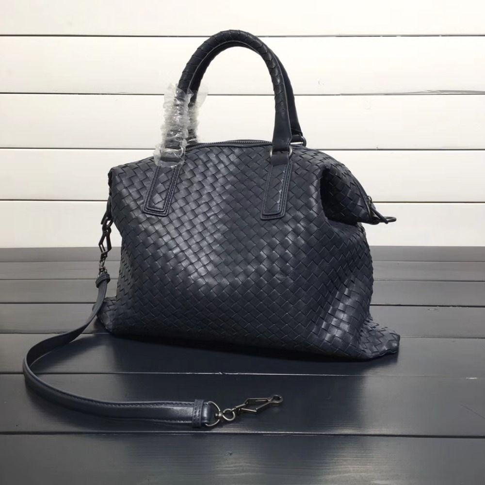 ISHARES Echtem Leder Schaffell Totes lammfell ordner hohe qualität Frauen weben Umhängetaschen Casual Totes handtaschen IS193785-M