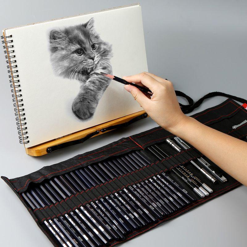 Ensemble de crayons de croquis de Marie ensemble de crayons de dessin de stylo de croquis ensemble complet de fournitures de stylo de croquis d'étudiant débutant professionnel
