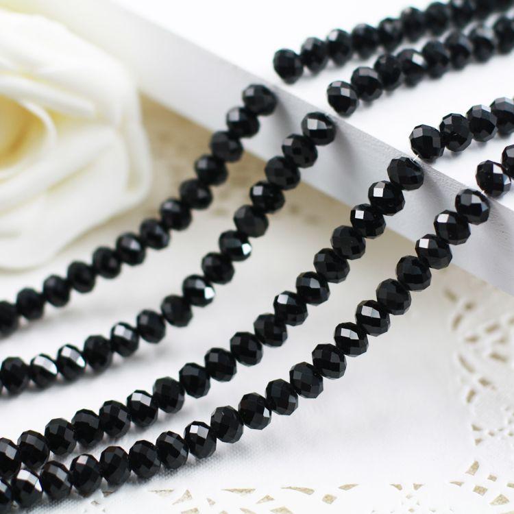 5040 AAA Top Noir Couleur Lâche Cristal Verre Rondelle beads.2mm 3mm 4mm, 6mm, 8mm 10mm, 12mm Livraison Gratuite!