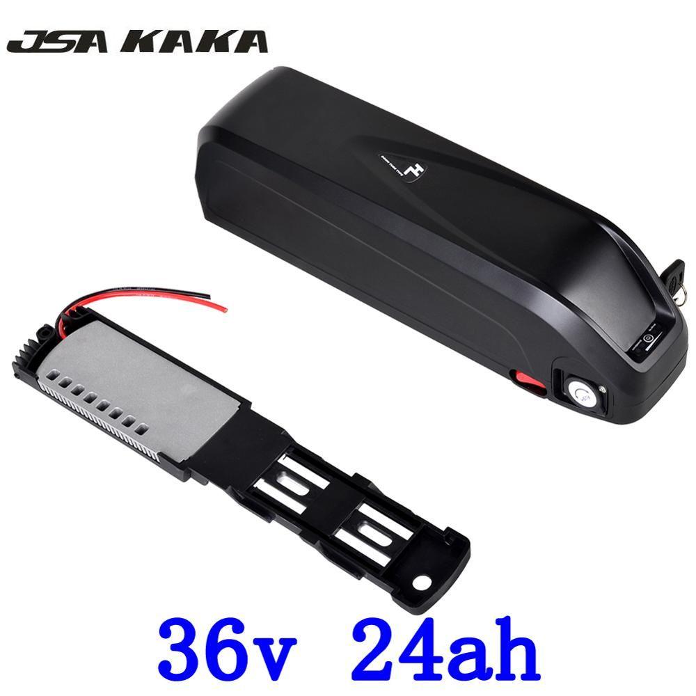 US EU No Tax 36V 24Ah Hailong Battery use for LG 18650 Cell Electric Bike Battery 36V 1000W with 5V USB Li-ion Battery +charge
