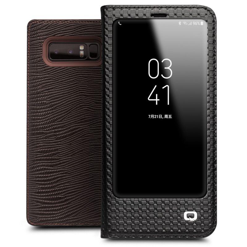 QIALINO Echtes Leder Luxus-schlag-fall für Samsung Galaxy Note 8 Mode Stents Phone Cover für Galaxy note8 für 6,3-zoll