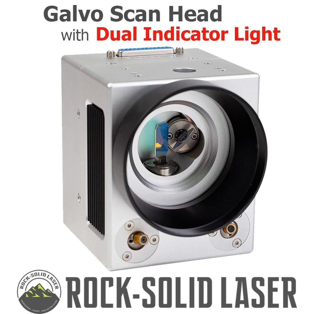 Faser Laser Galvo Scan Kopf mit Dual Rote Anzeige Licht 1064nm Laser Kennzeichnung Maschine Teile mit Netzteil Set