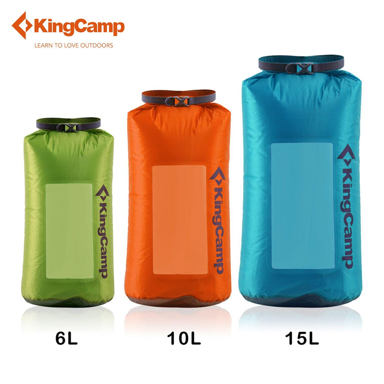 KingCamp Waterproof Dry Bag Ultralight Travel Visual Rafting Canoeing Cordura Fabric Dry Sack 6L/10L/15L green/orange/blue