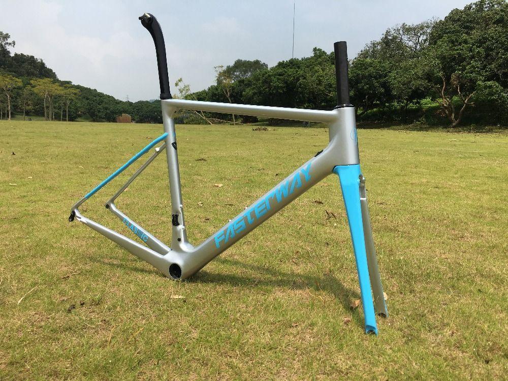 Schnelle lieferung zeit! pu technologie neue farbe direkt montieren bremse blau splitter matt oder glänzend finish bike carbon rahmen straße, freies EMS