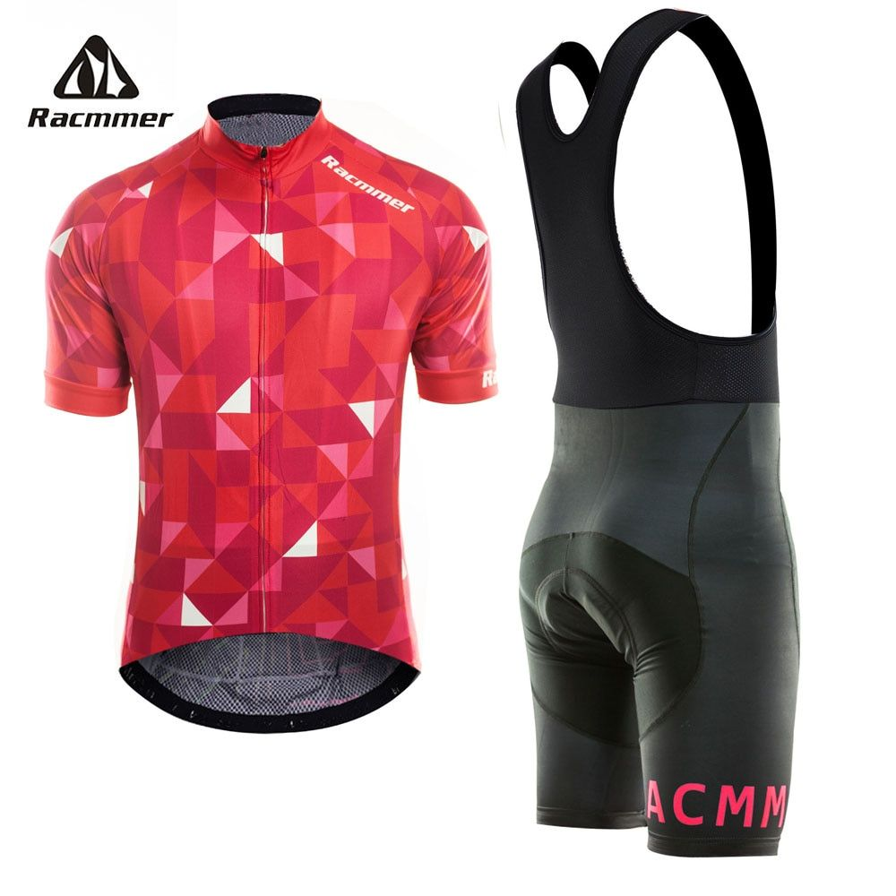 Racmmer 2018 Pro Summer Cycling Jersey Set Mountain Bike Clothing MTB Bicycle Clothes Wear Maillot Ropa Ciclismo Men Cycling Set