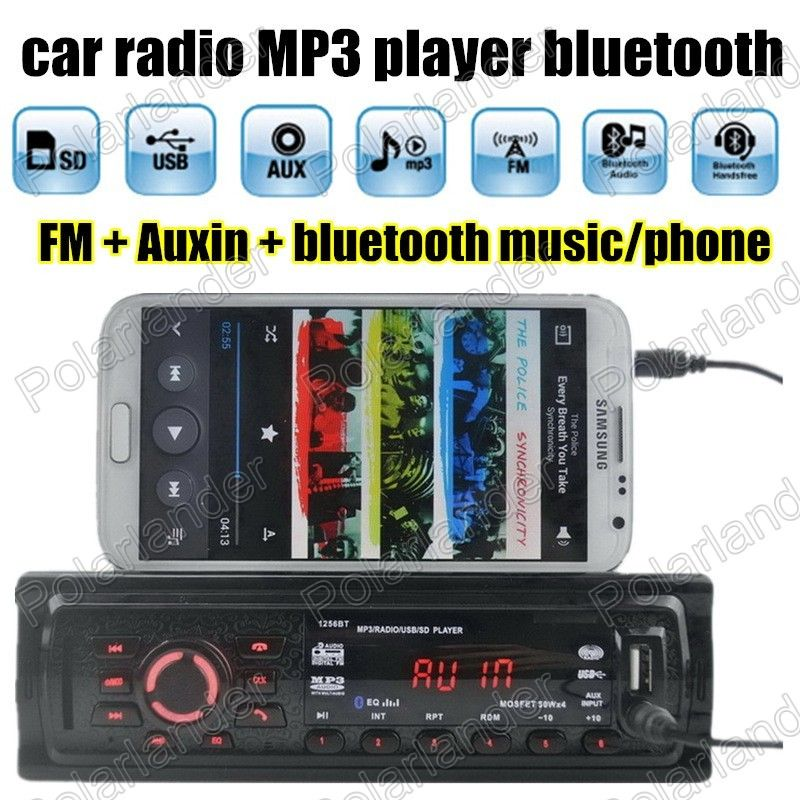Best selling 1 Din remote control Car Audio Auto New Car Radio Stereo Player Bluetooth Auxin MP3 FM USB SD universal