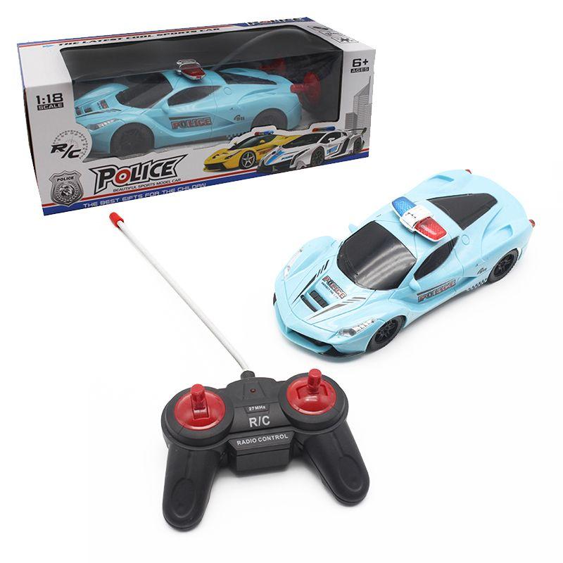 Garçon jouets 1:18 4CH Police RC Modèle De Voiture Bébé Jouets 4 Cchannels Télécommande De Voiture Micro Racing Voitures Enfants Cadeaux jouets Pour Enfants