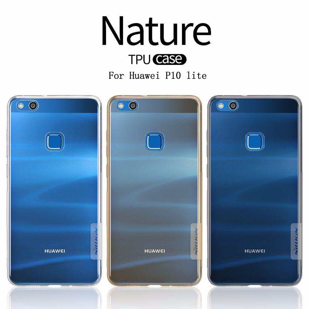 Huawei P10 lite чехол Nillkin Nature ультра тонкий Ясно ТПУ прозрачный мягкий чехол для Huawei P10 Lite