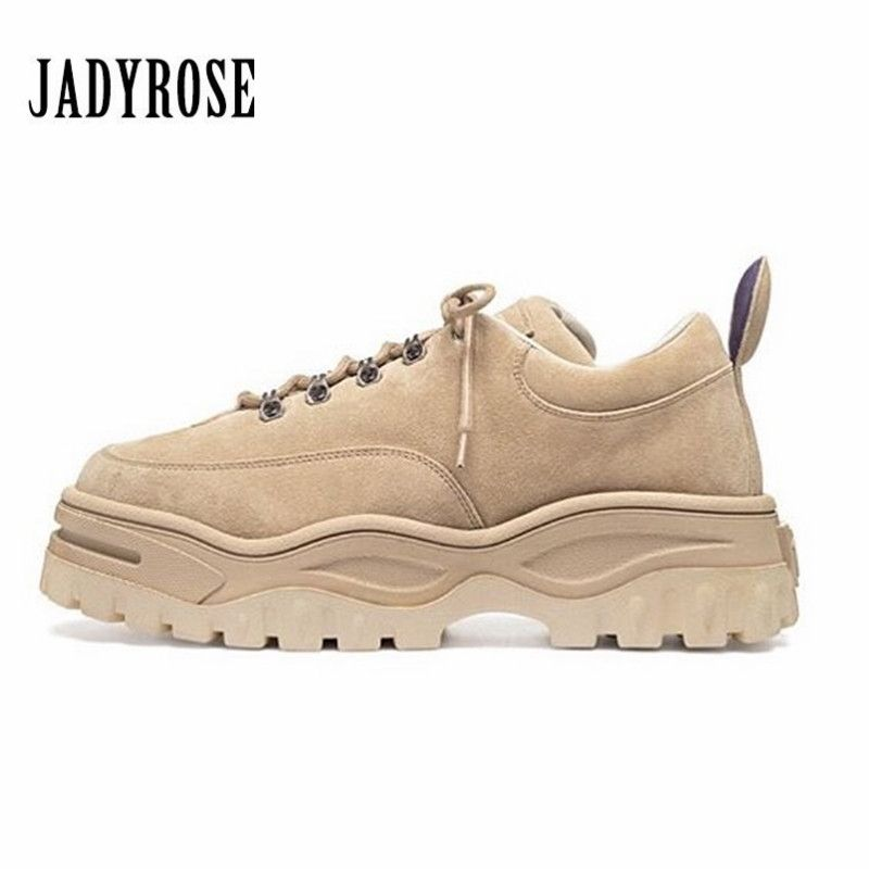 Jady Rose 2018 New Hot Women Sneakers Lace Up Platform Shoes Woman Creepers Female Casual Flat Shoe Tenis Feminino Espadrilles
