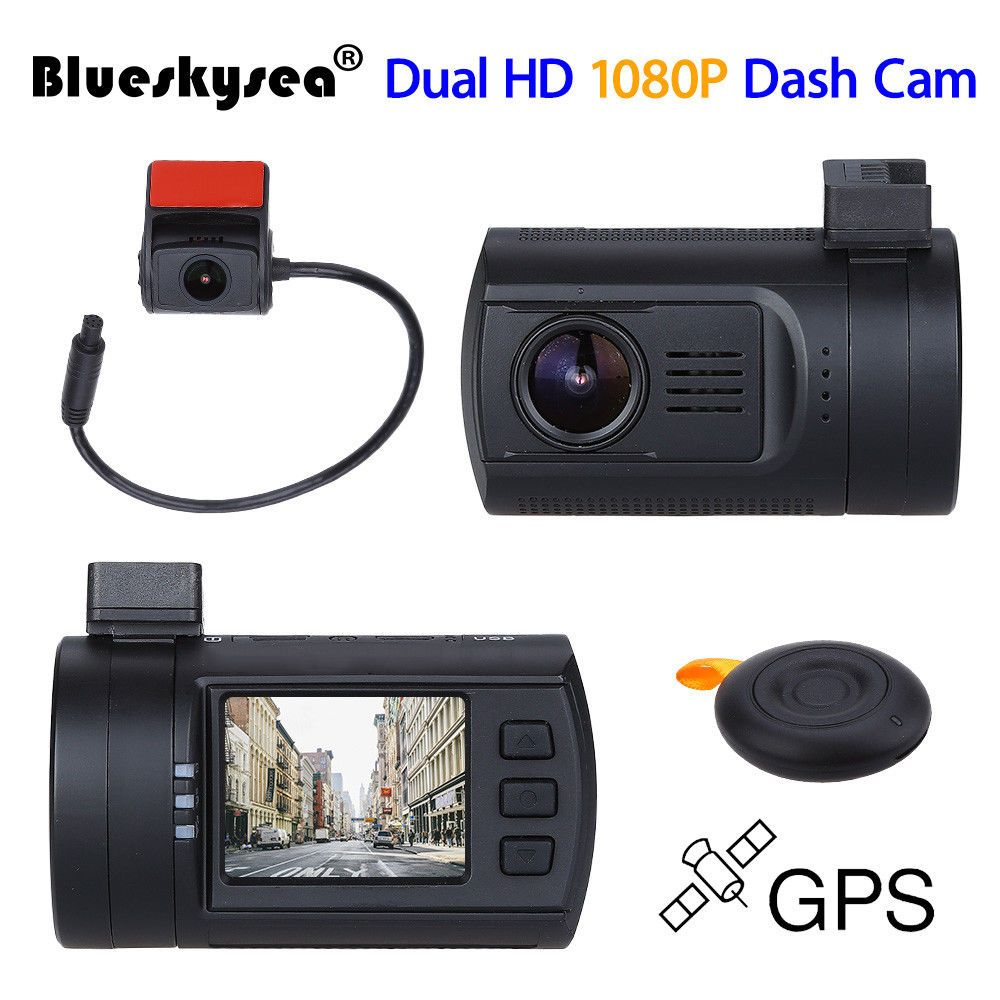 Blueskysea Mini 0906 1080 p dual objektiv Auto Dash cam Super Kondensator Auto DVR Recorder GPS CPL Hardwire option als gut als mini 0806
