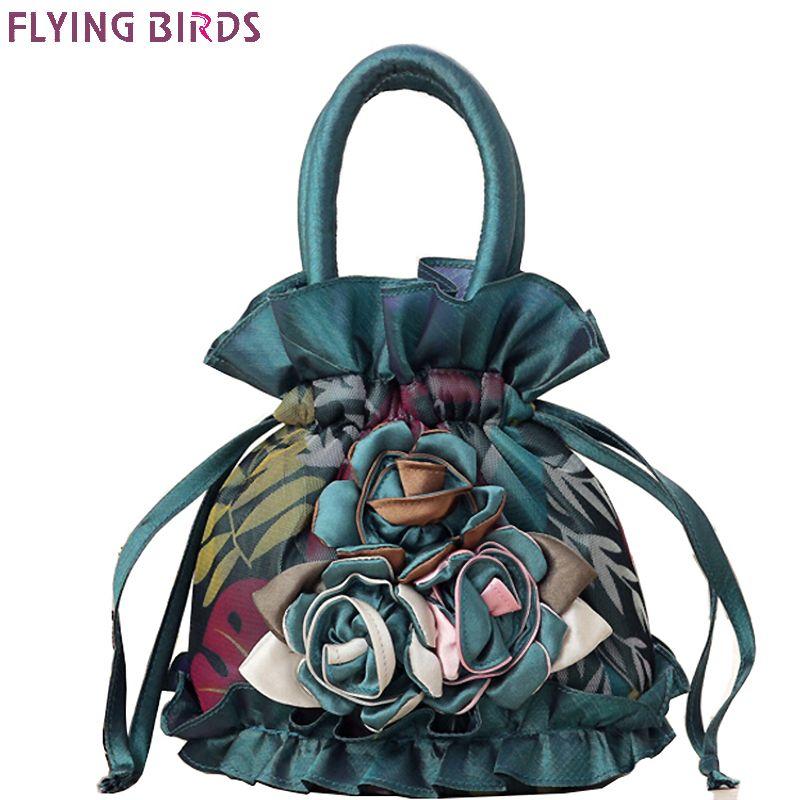 FLYING BIRDS women bag bucket women handbag design casual purse tote high quality flower Mummy bag ladies money bag 2018 LM4025
