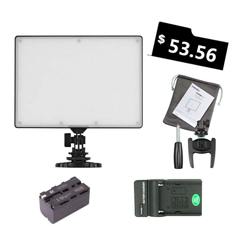 <font><b>Ulanzi</b></font> YONGNUO YN300 YN-300 Air LED Camera Video Light 3200-5500K with NP-F750 Decoded Battery+Charger for Canon Nikon&Camcorder