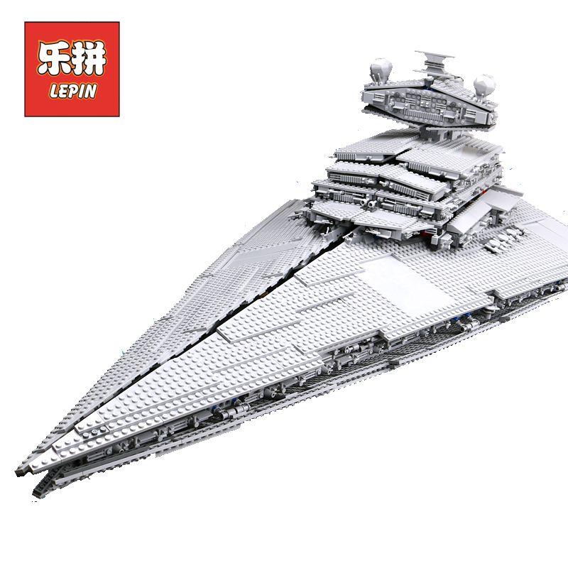 LEPIN 05027 Emperor Fighters Ship Star Plan Wars legoings Starwars 10030 10221 Destroyer Starship Building Blocks Children Toys