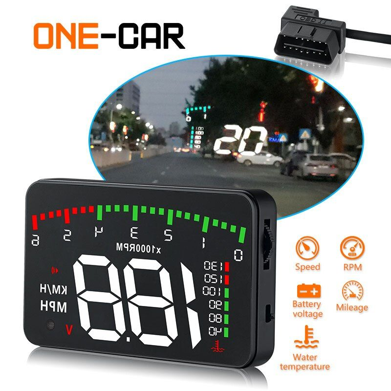 GEYIREN 3.5 A900 HUD Head-Up Display Car-styling Hud Display Overspeed Warning Windshield Projector Alarm System Universal Auto