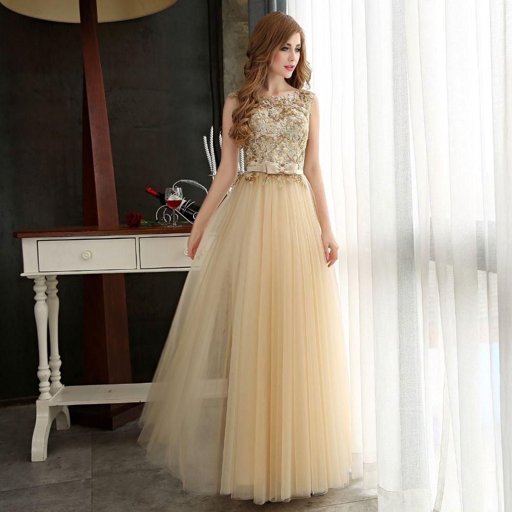 Vestido de noche Largo Mujeres Impresionante Vestidos Formales Lentejuelas Ocasión Especial 2016 de Lentejuelas de Oro de Tul de Encaje vestidos de noche