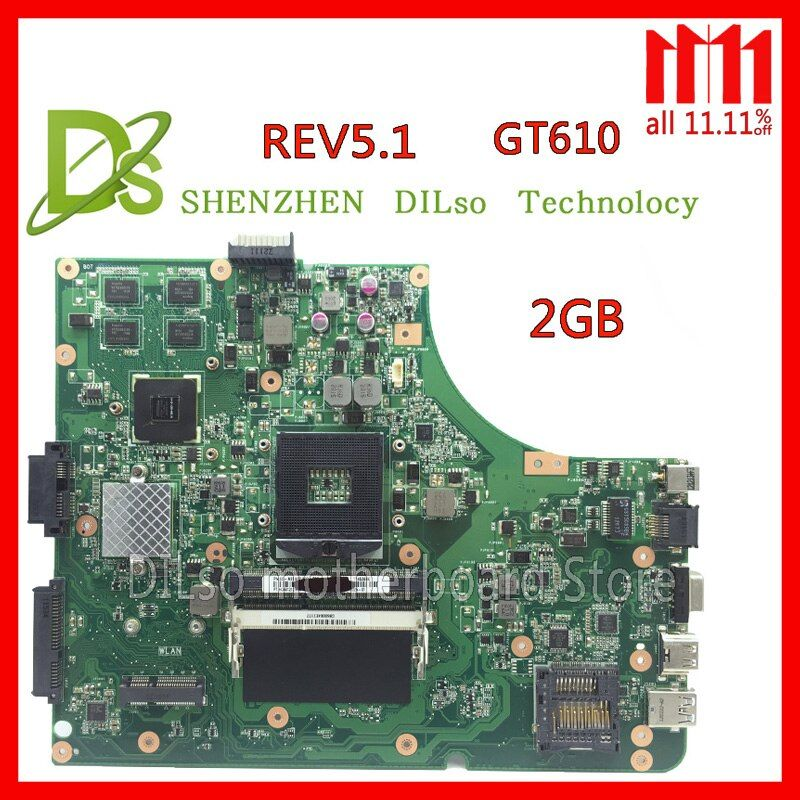 KEFU K53SD HOT!!!For Asus K53SD motherboard REV 5.1 laptop motherboard with Graphics card GT610M 2GB Test work 100%