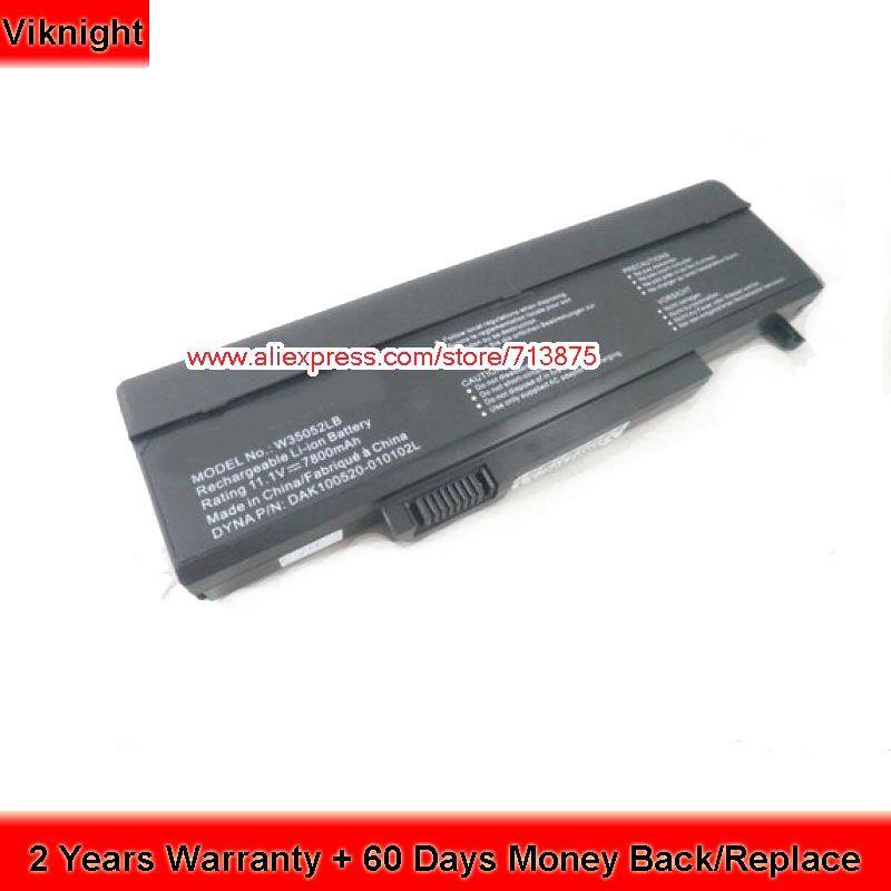 SQU-720 7800mah Laptop Battery For Gateway FX MS2252 SQU-715 SQU-719 SQU-721