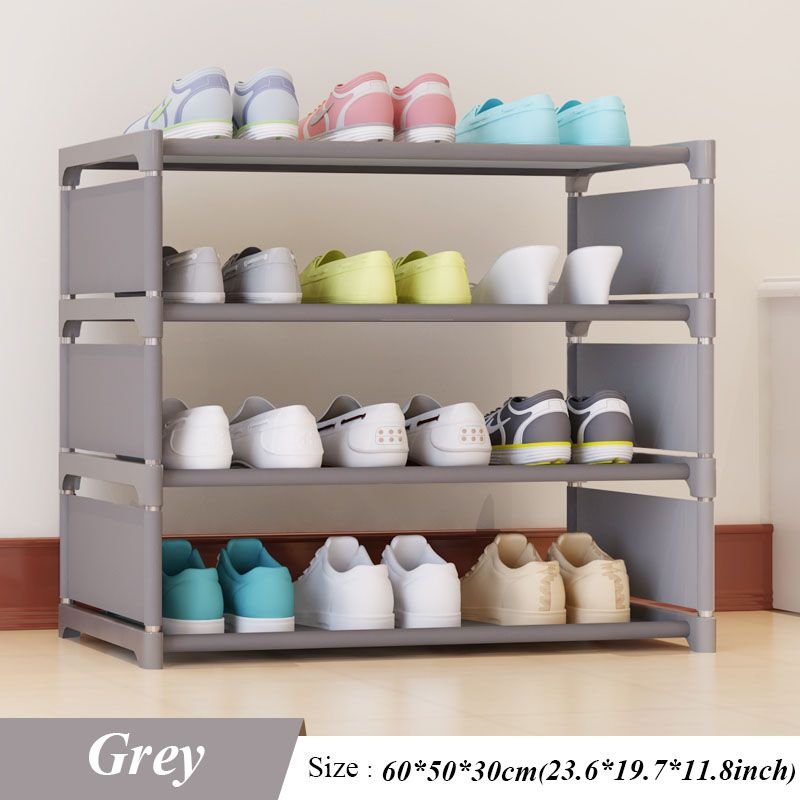 New Shoes Rack Four Floors Receive Shoe Ark 50 Cm High Men's and Women's Dormitory Bed Bottom Bed Shoes Shelf