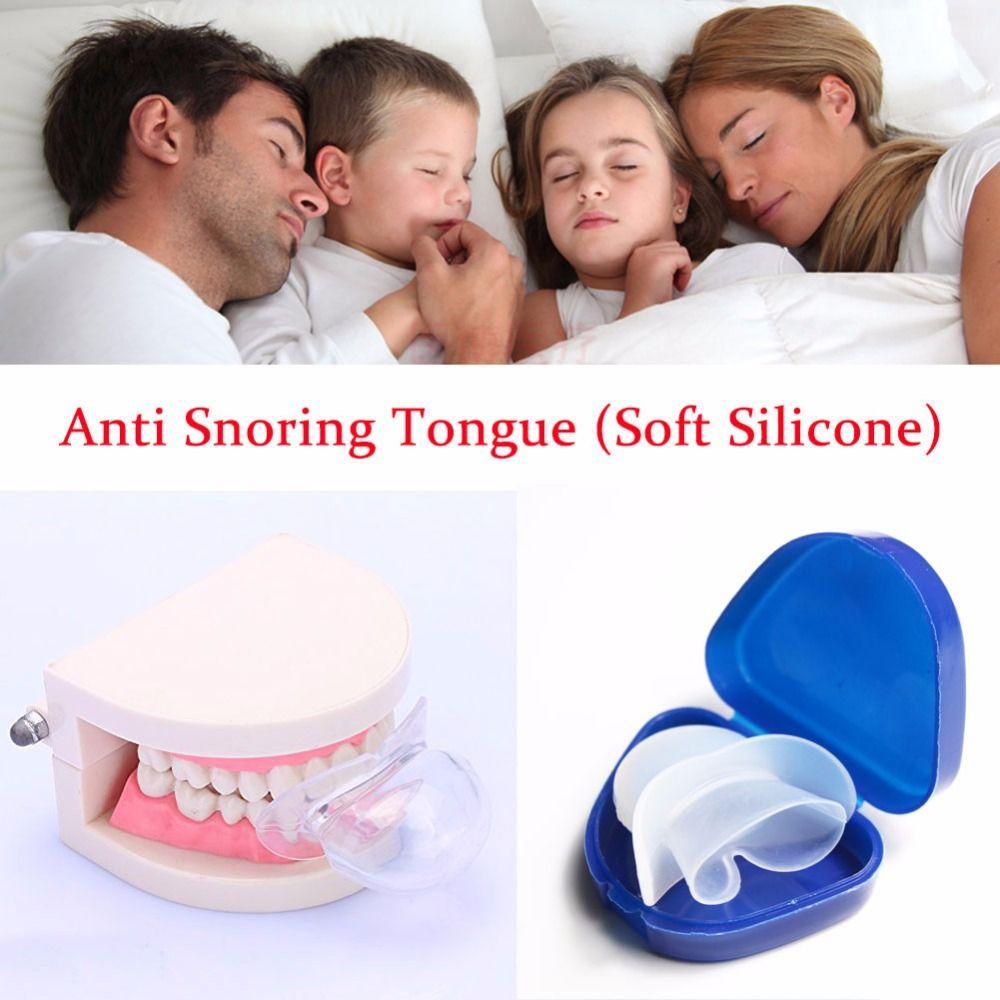 Aide au sommeil Anti ronflement langue apnée garde de nuit arrêter le ronflement dispositif Anti ronflement Transparent Silicone souple médical