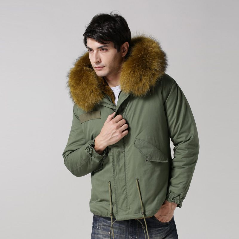 2016 Large Size 9 Colors Warm Winter Jacket Men Fur Hood Men Jacket Size S-4XL