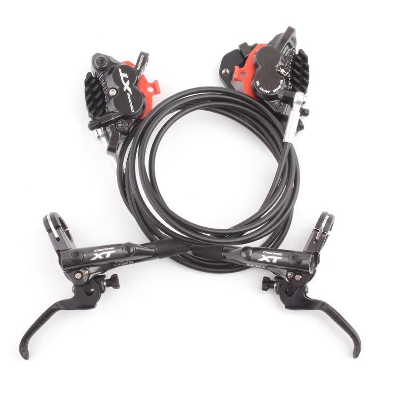 SHIMANO DEORE XT BL M8000 BR M8020 4 Kolben Hydraulische Scheibenbremse Umfassen ICE-TECH PADS Länge 950/1550mm