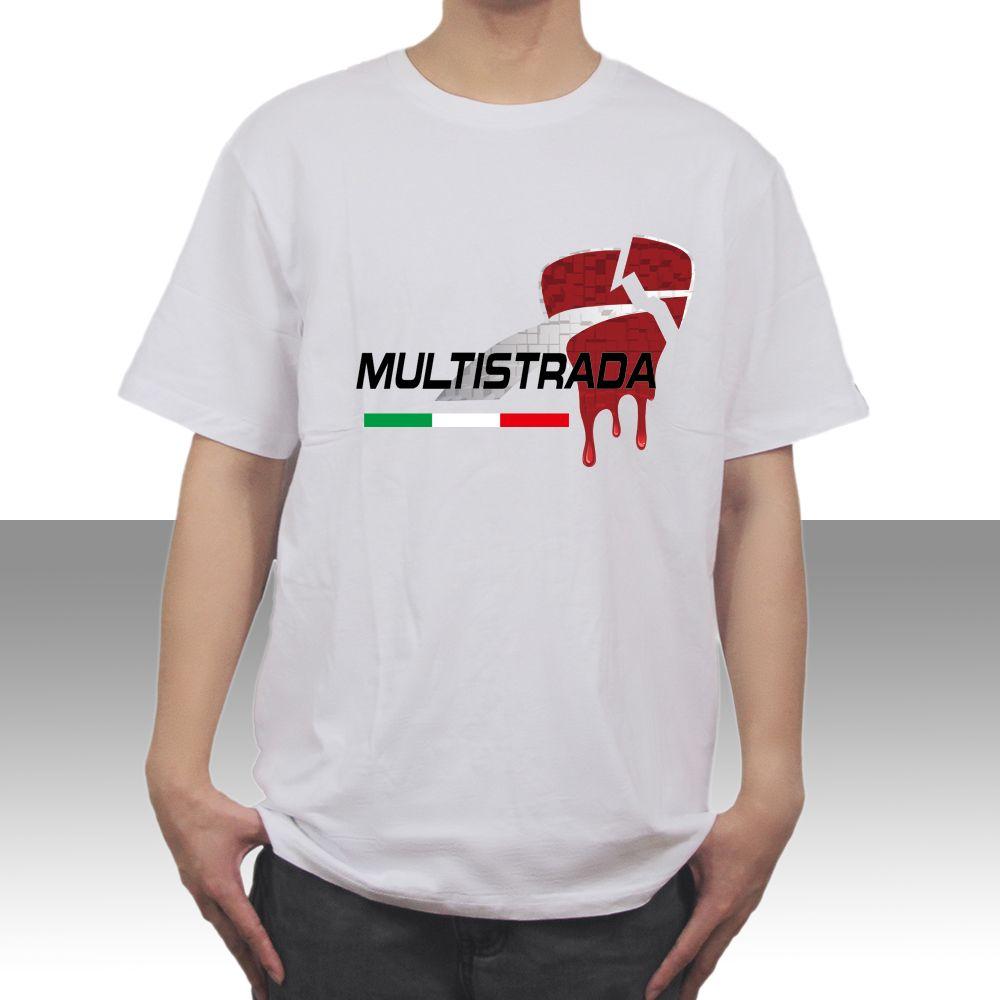 KODASKIN Motorcycle 100% Cotton Unisex customizable Men Casual Tee Shirt T-shirt For Ducati MULTISTRADA 950 1200