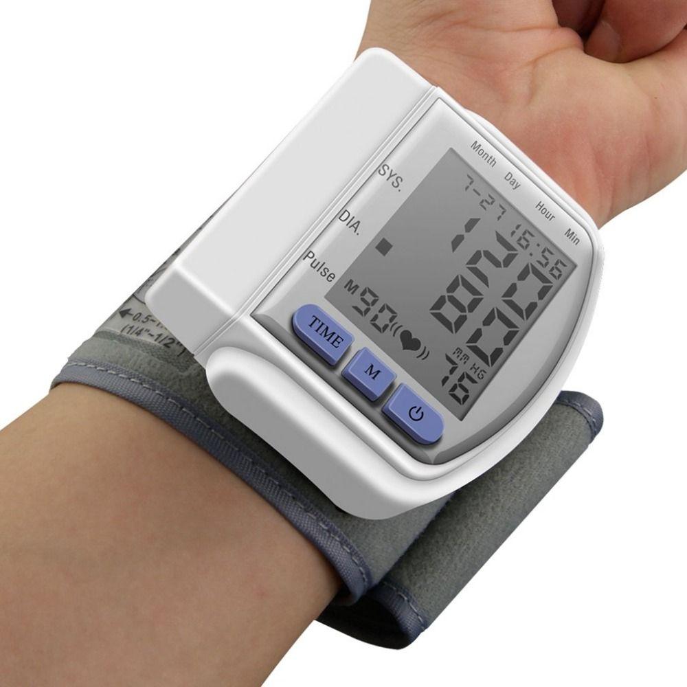 Digital Wrist bp <font><b>Blood</b></font> Pressure Monitors meters tonometer sphygmomanometer cuff automatic health care monitors Drop Shipping