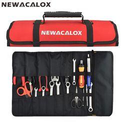 NEWACALOX сумка для инструментов многофункциональная Водонепроницаемая электрика Оксфорд карманные аппаратные средства инструментарий рулон...