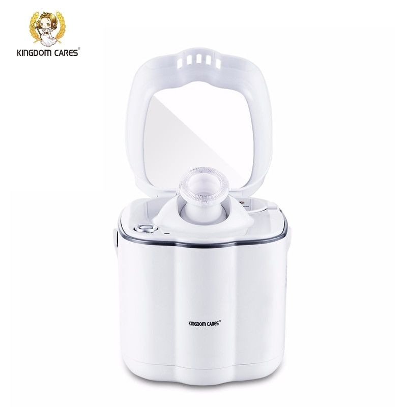 KINGDOM CARES Nano Ionic Facial Hot Steamer Face Moisturizing Acne Blackhead Pores Cleaning Cleaner Mirror Home SPA KD2332