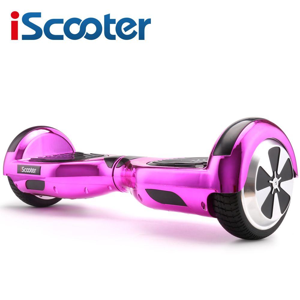 IScooter Elektrisches Skateboard Hoverboard Selbstausgleich Roller mit zwei 6,5 zoll Rad mit Led Bluetooth Lautsprecher 6,5 ''schwebebrett