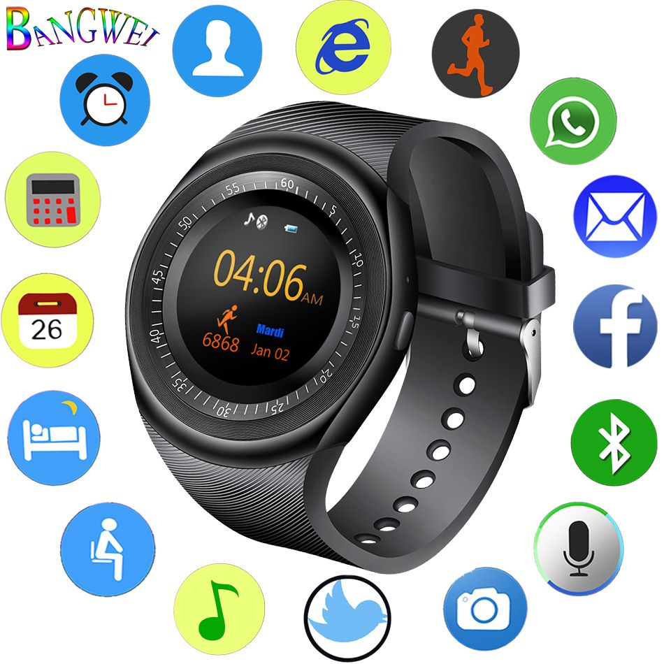 2018 New Smart Watch Men Fitness Sport Pedometer SmartWatch Bluetooth Music Player Sedentary Sleep Monitoring Reloj inteligente