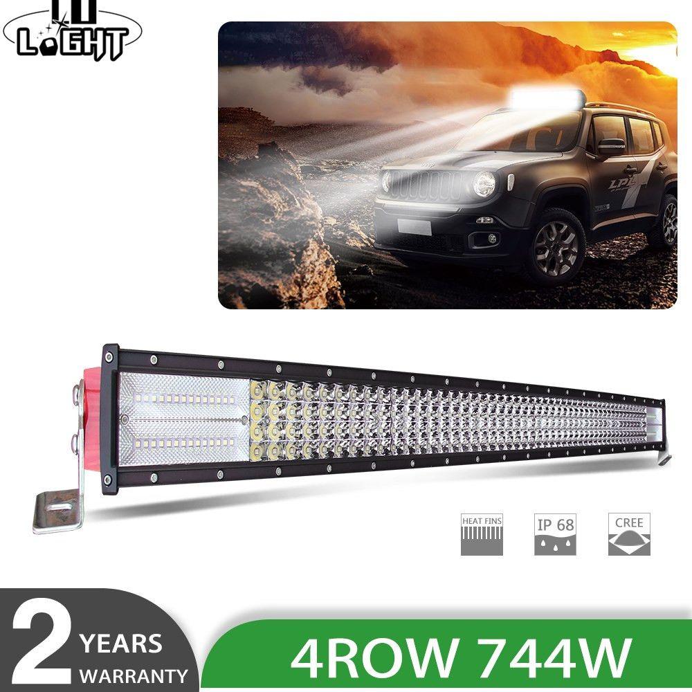 CO LICHT 42 8D LED Licht Bar 744 watt Gebogene Led-arbeitslicht Bar 12 v 24 v Combo auto Offroad Led Bar Für Traktor 4x4 Auto Lkw SUV