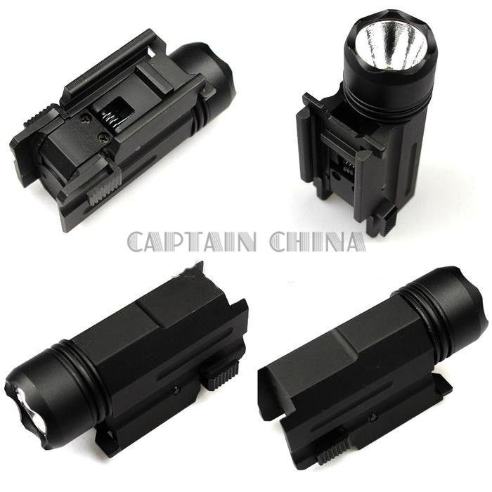 LED Shotgun Rifle Glock Gun Flash Light Tactical <font><b>Torch</b></font> Flashlight with Release 20mm Mount for Pistol Airsoft
