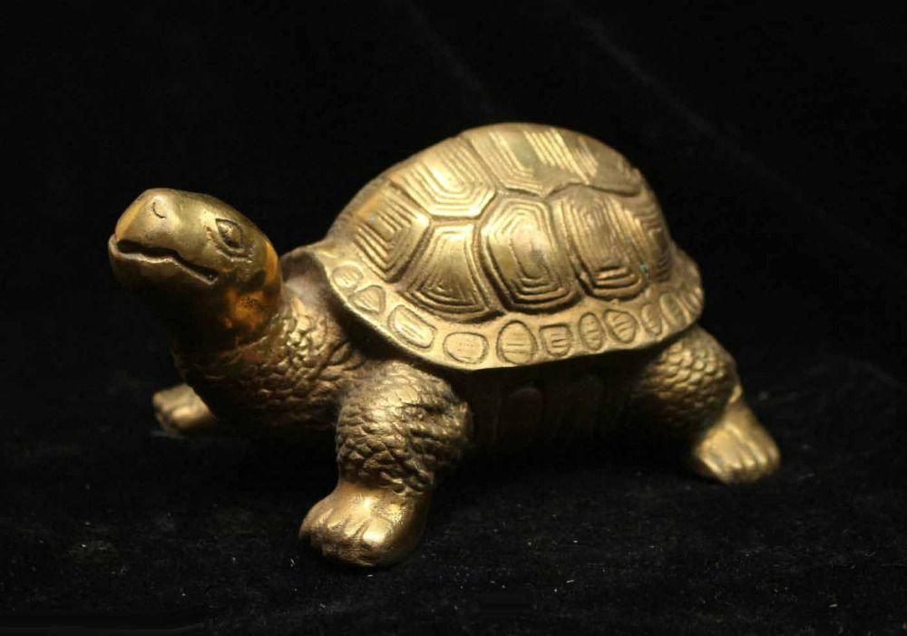 China Fengshui Bronze Brass Lucky Auspicious longevity tortoise Turtle Statue