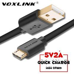 Voxlink micro USB Cable de datos de carga rápido 5 V 2A teléfono móvil Android cable para Samsung S7 S6 Huawei xiaomi htc