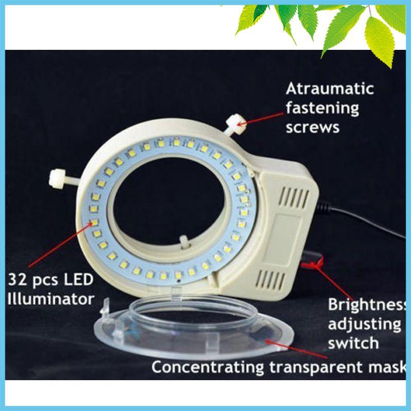 Microscope USB LED Ring Light Brightness Adjustable Inner Diameter 65mm Stereo Microscope Ring Lamp