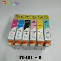 T0481 картридж для Epson T0481-T0486 Stylus Photo R200 R300 R340 R300 R300M R320 RX500 RX600 RX620 RX640 принтера